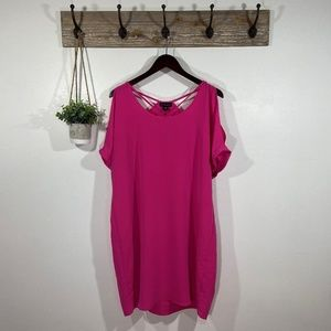 3/$20 METAPHOR Short Pink Blouson Shift Dress L